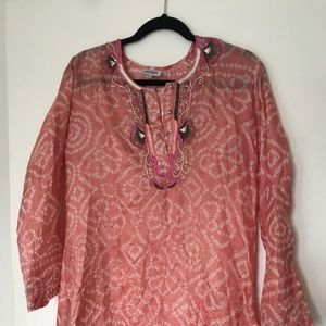 Silk embellished Tunic - JOSHI